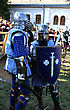 Courage KAMYANETS-PODILSKY- JUNE 2: Knights In Armor During Forpost (The Outpost) Festival Of Medieval Culture On June 2, Ukraine stock photography