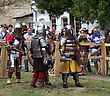 KAMYANETS-PODILSKY- JUNE 2: Knights In Armor During Forpost (The Outpost) Festival Of Medieval Culture On June 2, Ukraine stock image