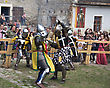 Courage KAMYANETS-PODILSKY- JUNE 2: Knights Battle During Forpost (The Outpost) Festival Of Medieval Culture On June 2, Ukraine stock photo