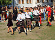 KAMYANETS-PODILSKY- JUNE 2: Young People Dancing During Forpost (The Outpost) Festival Of Medieval Culture On June 2, Ukraine stock photography