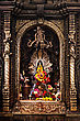 KATMANDU, NEPAL - APRIL 16: Golden Altar In Hindu Temple At Durbar Aquare On April 16, 2012, Katmandu, Nepal stock photo