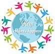 Keep Children's Happiness, Group Of Children All Around The World, Vector stock illustration