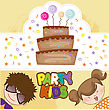 Kids Celebrating Birthday Party stock illustration