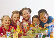 Kids Eating Healthy stock photography