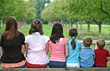Kids in a Row stock photo