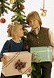 Kids with Christmas Presents stock photography