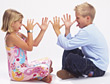 Kids with Teasing Gestures and Expression stock image