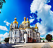 Kiev Pechersk Lavra Monastery In Kiev, Ukraine In The Morning stock photography