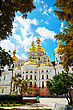 Kiev Pechersk Lavra Monastery In Kiev, Ukraine In The Morning stock image