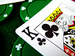 King Of Clubs - Macro stock image