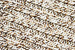 Knitted Brown And White Wool Fabric, Background. stock photo