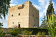 Kolossi Castle,strategic Important Fort Of Medieval Cyprus,fine Example Of Military Architecture,originally Built In 1210 By Frankish Military,rebuilt In 1454 By The Hospitallers. stock image