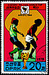 "KOREA - CIRCA 1978: A Postage Stamp Shows The Soccer Players With Inscription ""Brazil 1950"", Series ""History Of World Cup"", Circa 1978"