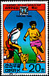 "KOREA - CIRCA 1978: A Postage Stamp Shows The Soccer Players With Inscription ""England 1966"", Series ""History Of World Cup"", Circa 1978 stock photography"