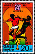"KOREA - CIRCA 1978: A Postage Stamp Shows The Soccer Players With Inscription ""Mexico 1970"", Series ""History Of World Cup"", Circa 1978 stock photography"