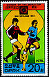 "KOREA - CIRCA 1978: A Postage Stamp Shows The Soccer Players With Inscription ""Switzerland 1954"", Series ""History Of World Cup"", Circa 1978 stock image"