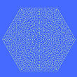 Labyrinth Isolated On Blue Background. Kids Maze