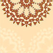 Lace Paisley Floral Colorful Ethnic Ornament Kaleidoscope stock illustration