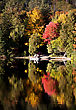 Lake In Autumn Algonquin Muskoka Ontario Colors stock photography