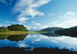 Lake in Scotland - Great Britain stock image