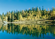 Lake with Reflection of Trees - Austria stock image