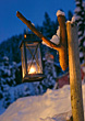 Lantern In The Snow stock photography