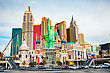 LAS VEGAS - APRIL 18: Las Vegas Boulevard In The Morning On April 18, 2014 In Las Vegas, Nevada. It's The Most Populous City In The State Of Nevada And The County Seat Of Clark County stock image