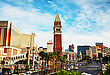 LAS VEGAS - APRIL 18: Las Vegas Boulevard In The Morning On April 18, 2014 In Las Vegas, Nevada. It's The Most Populous City In The State Of Nevada And The County Seat Of Clark County stock photo