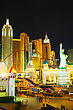 LAS VEGAS - APRIL 18: Las Vegas Boulevard In The Night On April 18, 2014 In Las Vegas, Nevada. It's The Most Populous City In The State Of Nevada And The County Seat Of Clark County stock image