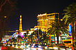 LAS VEGAS - APRIL 18: Las Vegas Boulevard In The Night On April 18, 2014 In Las Vegas, Nevada. It's The Most Populous City In The State Of Nevada And The County Seat Of Clark County