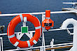 Lifebuoy Ring On A Vessel Is In Available Seat stock photography