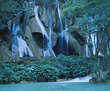 Limestone Waterfall, Laos stock image