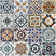 Geometrical Lisbon Tiles stock photo