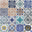 Lisbon Tiles stock photography