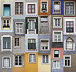 Lisbon Windows stock image