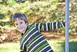 Fun Little Boy Playing stock photography