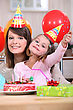 Little Girl At Birthday Party stock photography