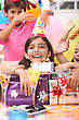Little Girl At Birthday Party stock image