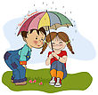Brother Little Girl And Little Boy Is Best Friends, Vector Illustration stock vector