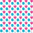 Lollipops Seamless Pattern, Valentine's Day Illustration, Vector Eps 10