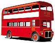 London Double Decker Bus With White Frame For Your Text