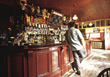 Lonely Man in a Bar stock photo