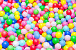 Lot Of Coloured Plastic Balls In Playroom stock photography