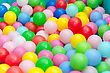 Lot Of Coloured Plastic Balls In Playroom stock image