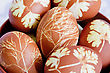 Lot Easter Colorful Eggs stock photography