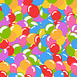 Lots Of Balloons Background In Many Colors