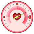 Love Thermometer Valentines Day Isolatetd On White Background