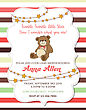 Lovely Baby Shower Card With Teddy Bear, Vector Format