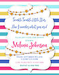 Lovely Baby Shower Card, Vector Format