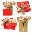 Luxurious Gifts Isolated On White Background stock photo